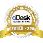 oDesk Design of the Month