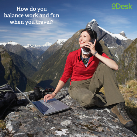 """How do you balance work and fun when you travel?"""