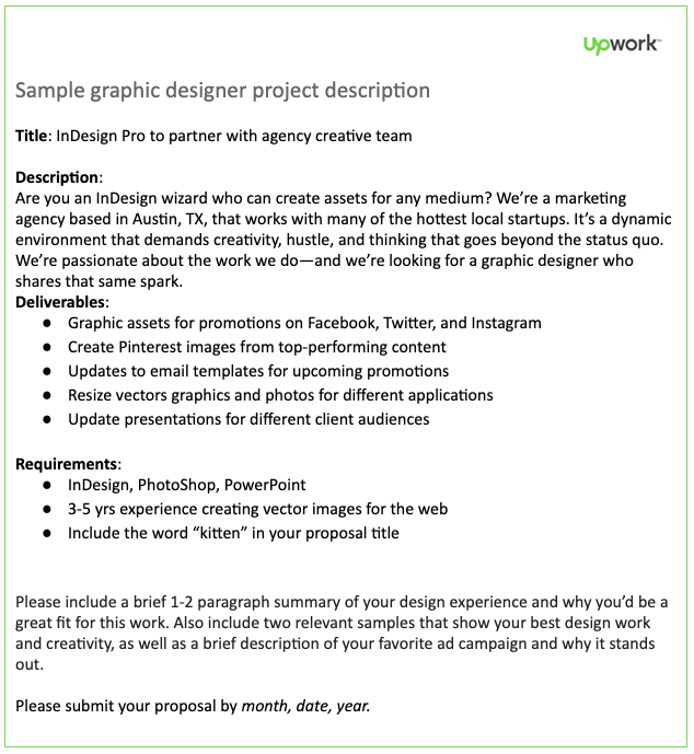 Graphic Designer Job Description Template Upwork
