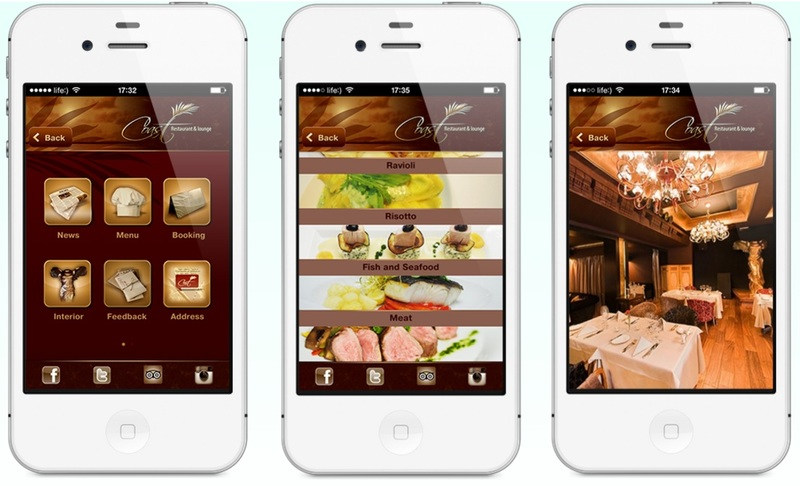 Elements mobile apps can provide to restaurant businesses