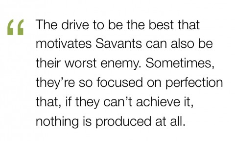savants as perfectionists