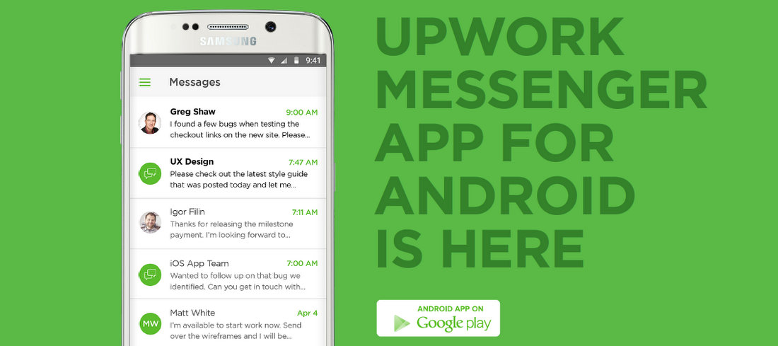 Now Available For Android: New Upwork Messenger App