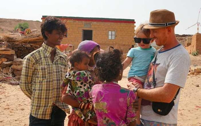 Jaisalmer, India | Chris and Jack meeting the locals (photo submitted by Chris Appleford)
