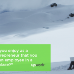 What perks do you enjoy as a freelancer or entrepreneur that you wouldn't get as an employee in a traditional workplace?