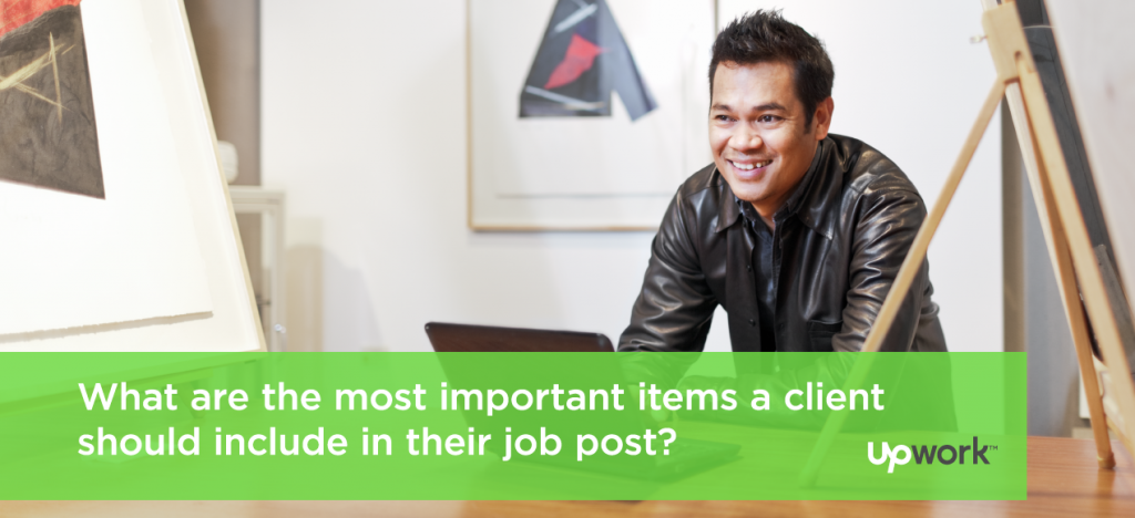 #TipTuesday: What are the most important items a client should include in their job post?
